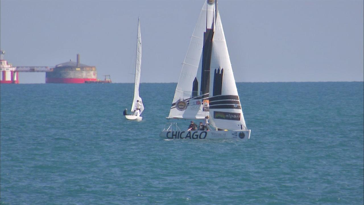 The Chicago Match Cup is the only U.S. stop of the Alpari World Match Racing Tour. Tuesday was a practice day in Chicago.