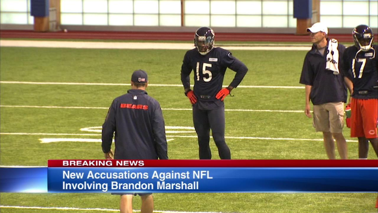 The NFL is under new fire on Wednesday for allegedly not taking action against Bears star receiver Brandon Marshall when he was a member of the Denver Broncos.