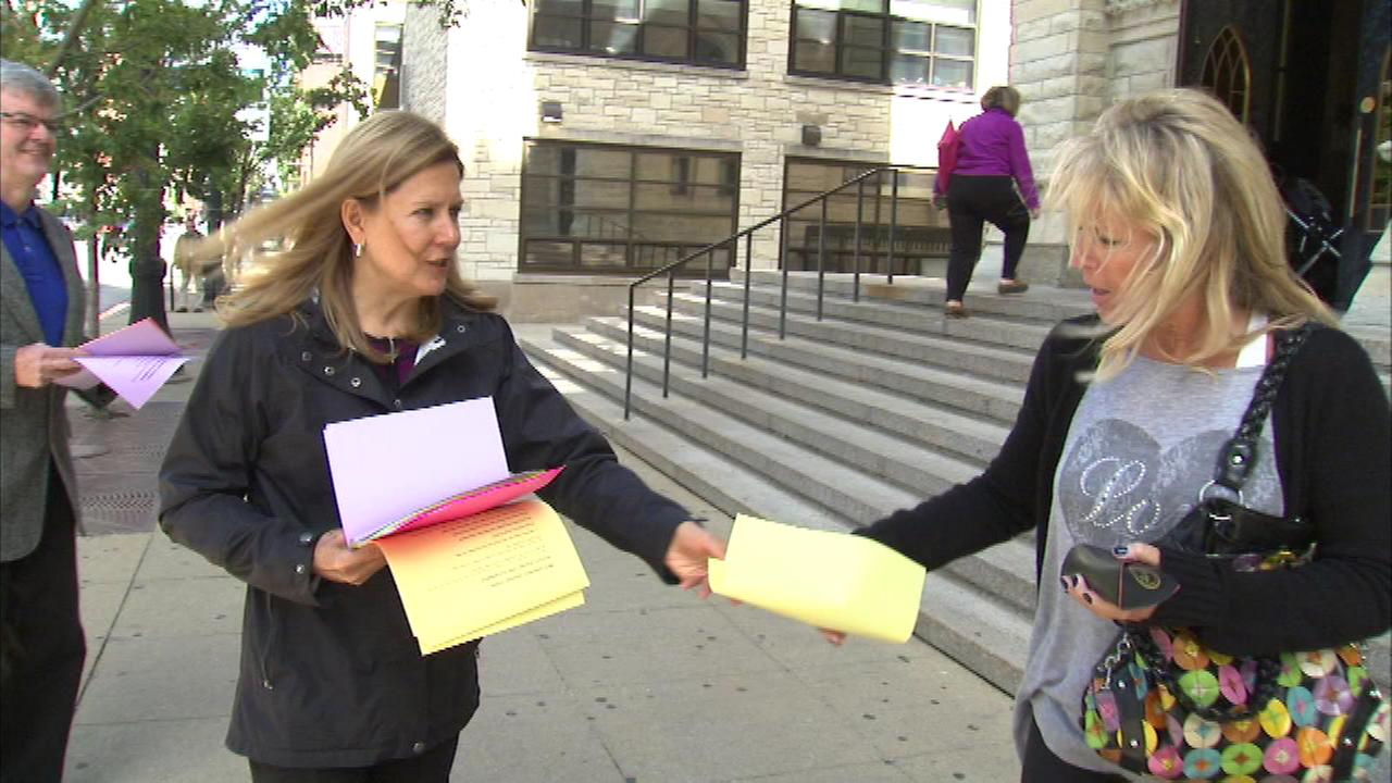 The Survivors Network of Those Abused by Priests (SNAP), was handing out leaflets in Chicago Sunday in reaction to the selection of the citys next archbishop.