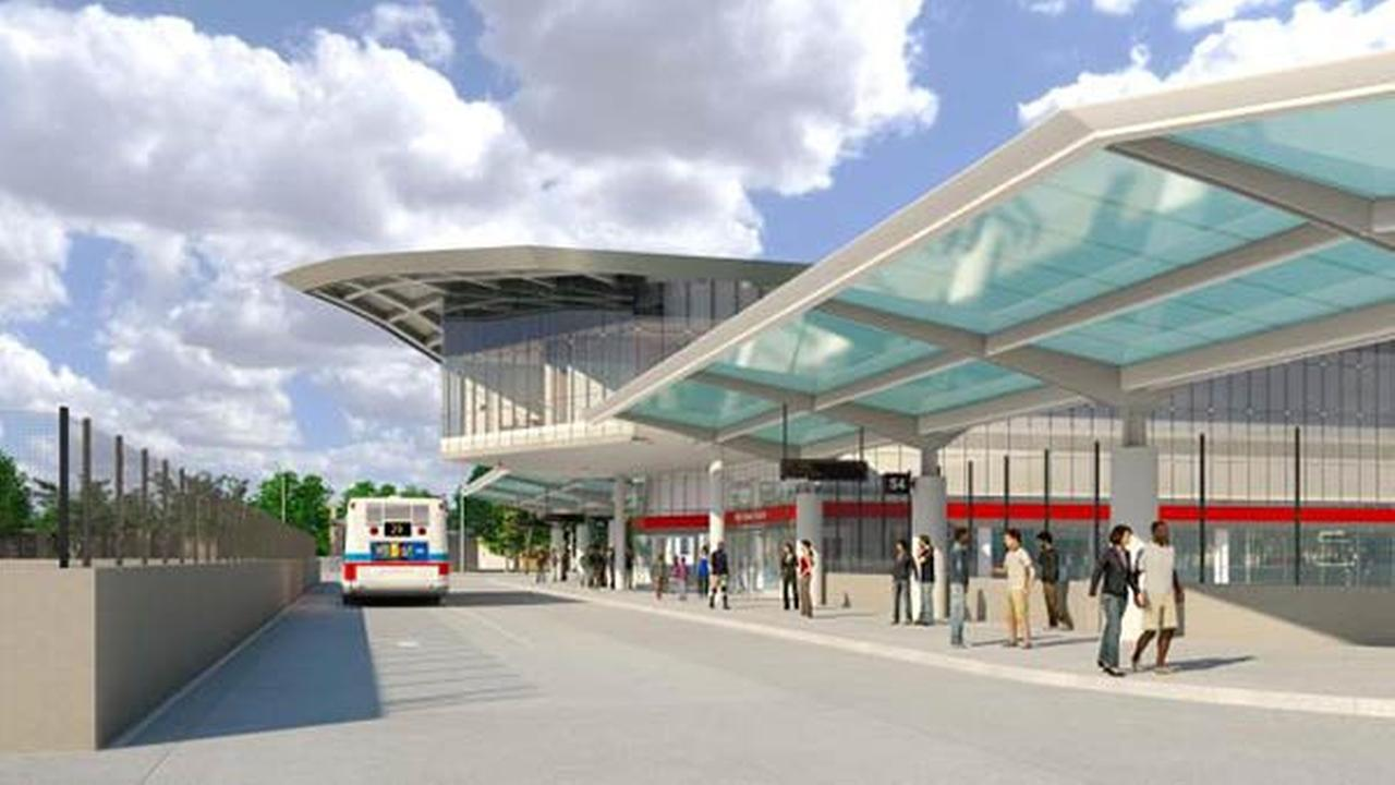 Artist rendering of the CTAs new 95th Street terminal, which breaks ground on Monday, September 22, 2014.