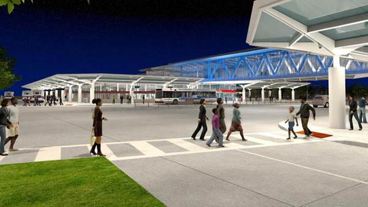 Artist renderings of the CTAs new 95th Street terminal, which breaks ground on Monday, September 22, 2014.
