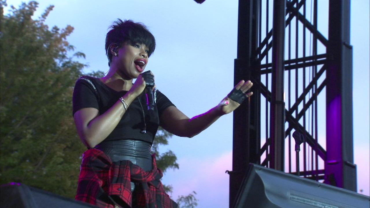 Singer Jennifer Hudson performed at the first annual AAHH! Fest on Sunday night.