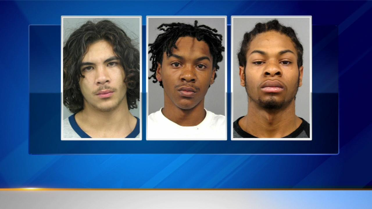 Three people are charged in a string of car burglaries in north suburban Skokie and Lincolnwood.