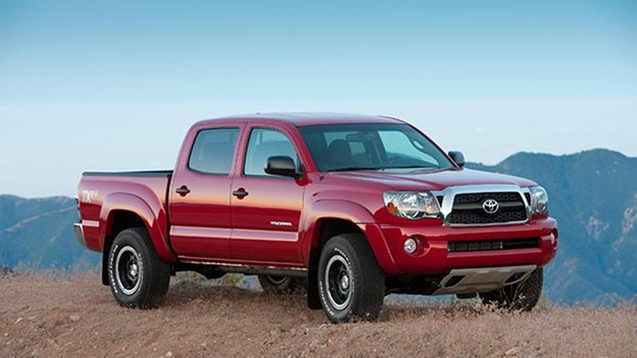 FILE - This undated file photo provided by Toyota shows the 2011 Tacoma. Toyota is recalling 690,000 Tacoma Four-by-Four and Pre-Runner pickups from model years 2005-2011.