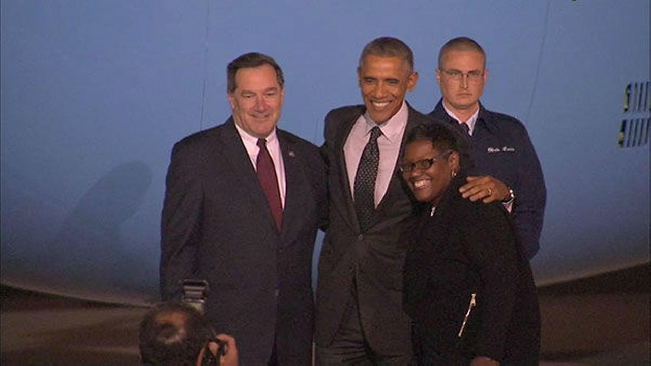 President Obama visits Chicago to campaign, speak