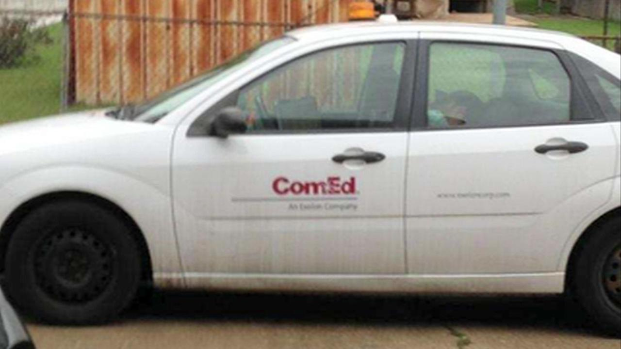A Chicago man says he found a ComEd worker sleeping inside a car parked in his driveway, and he said there werent even any service calls in the area.