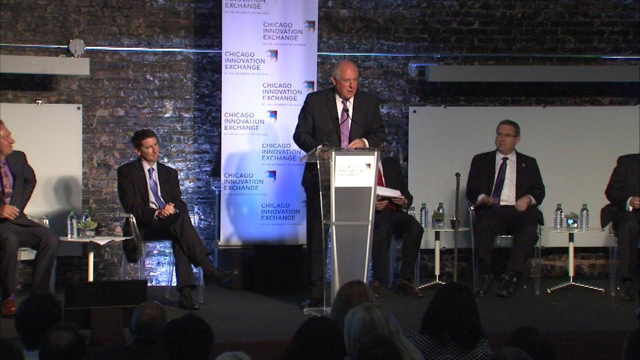 Governor Pat Quinn announced the state is investing in a new innovation exchange to help create jobs in Chicago.