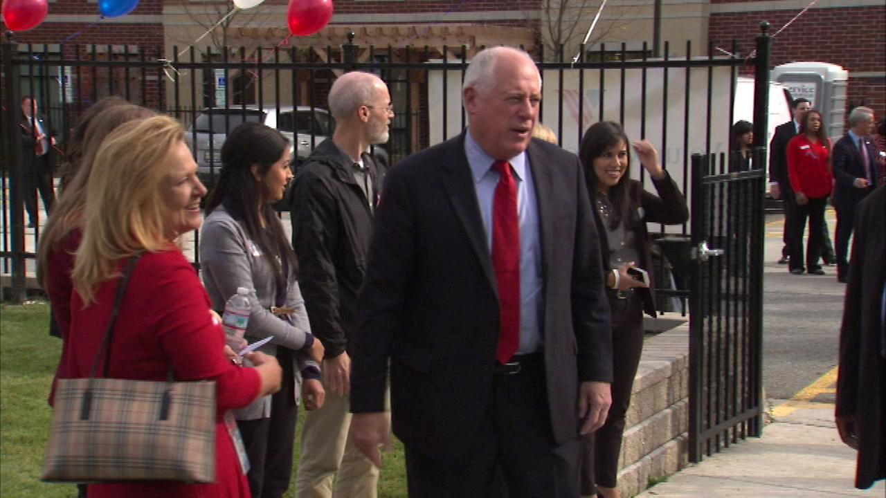 Governor Pat Quinn announced the opening of Hope Manor II, a housing development for veterans and their families located On South Halsted.