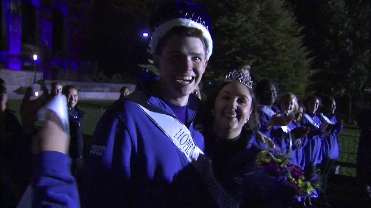 Northwestern crowned the homecoming king and queen at Fridays pep rally.