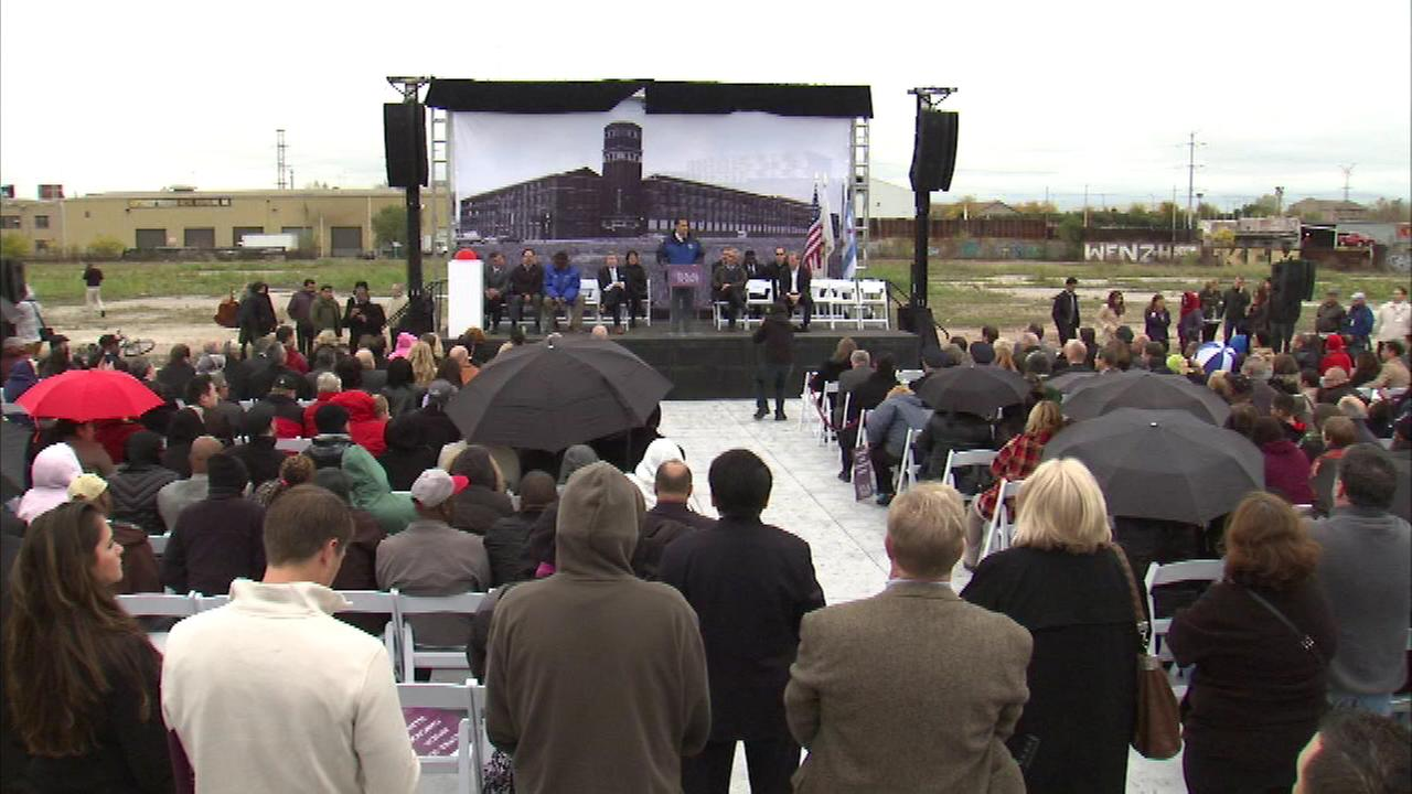 Community members marked a milestone Saturday in the development of a future campus on the citys Southwest Side.