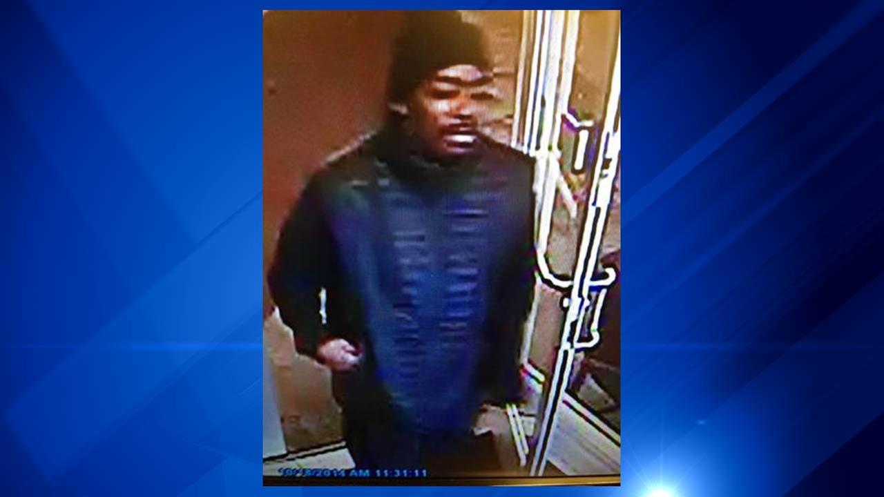 Chicago Police are searching for a suspect caught on camera robbing a South Side bank Sunday.