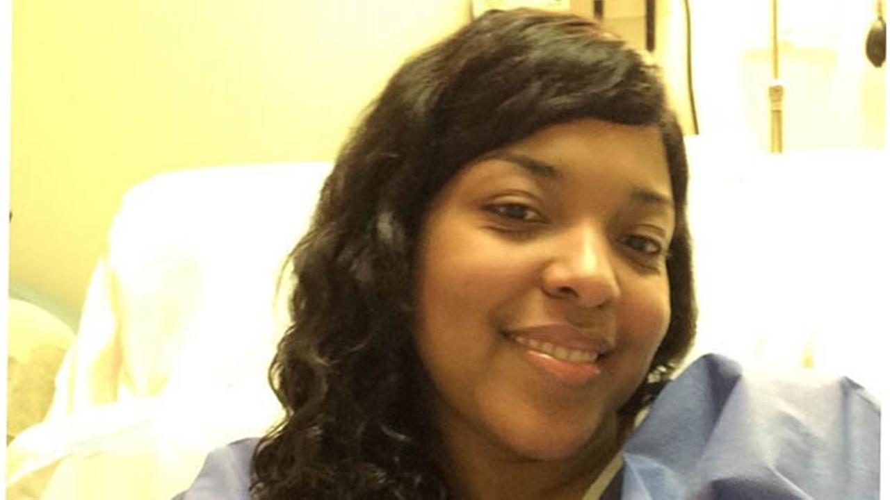 Amber Vinson, pictured in her new room at Emory University Hospital.