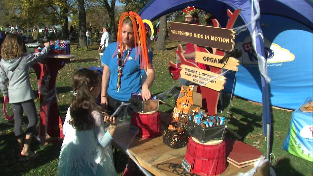 Hundreds of costumed kids and adults were in Lincoln Park Saturday for the 15th annual Pumpkins in the Park 5K Race.