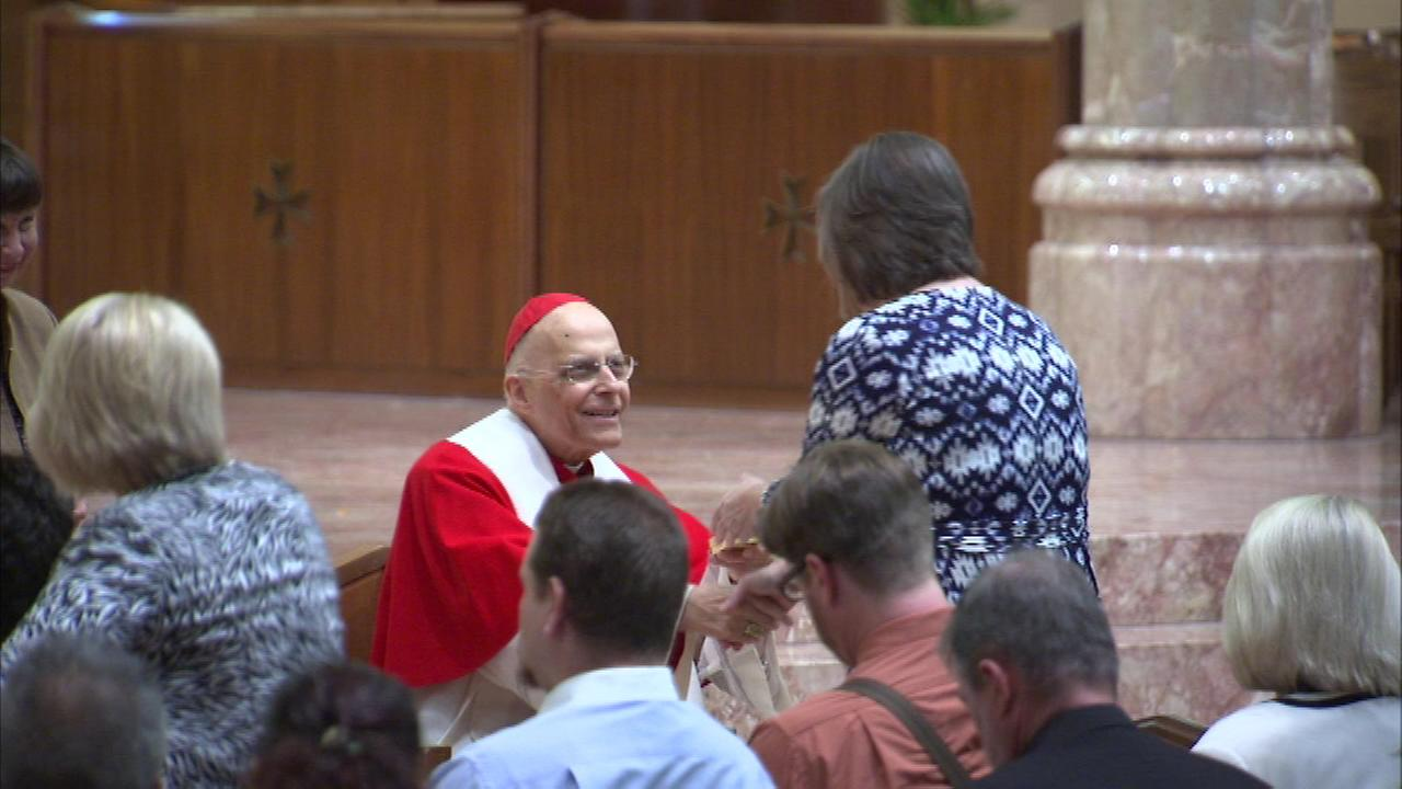 In his final weeks as archbishop of Chicago, Cardinal Francis George presided over an awards ceremony Sunday at Holy Name Cathedral.