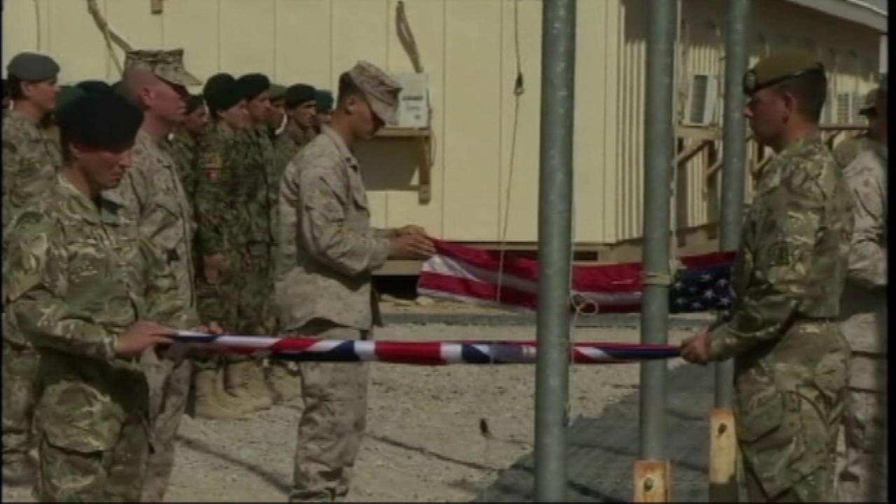 A major milestone Sunday in Afghanistan, as combat operations in the Helmand province officially ended for American Marines and British troops.
