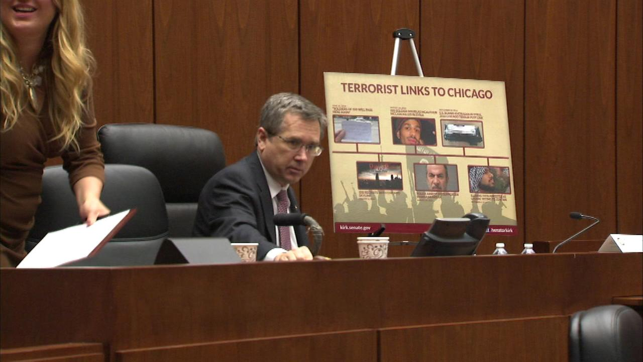 United States Senator Mark Kirk held a field hearing on the work of ISIS and the terrorist threat faced here in Chicago.