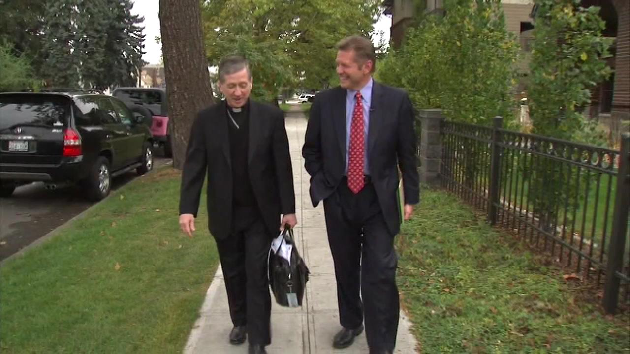 Archbishop-Designate Blase Cupich, Chicagos next Roman Catholic archbishop, spent the day with ABC7 Eyewitness News anchor Alan Krashesky on Thursday in Spokane, Washington.