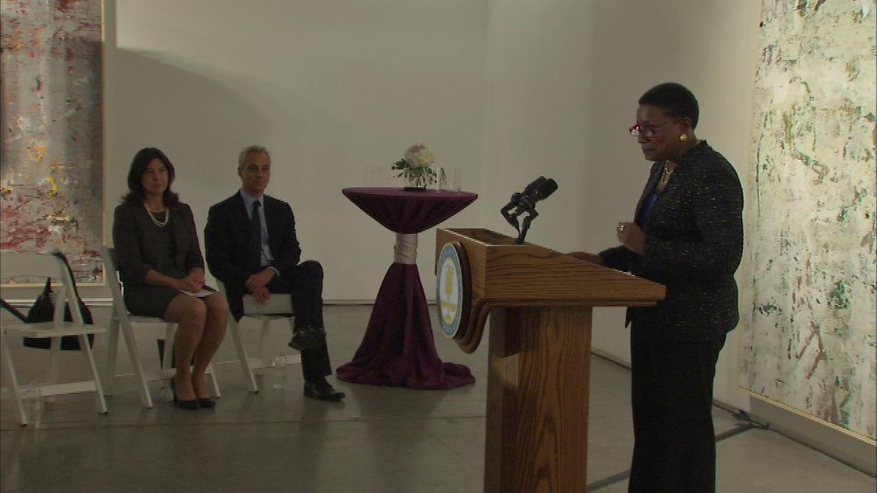 Cook County States Attorney Anita Alvarez hosted an event at the Zhou B Art Center Thursday night marking the 20th anniversary of the Violence Against Women Act.