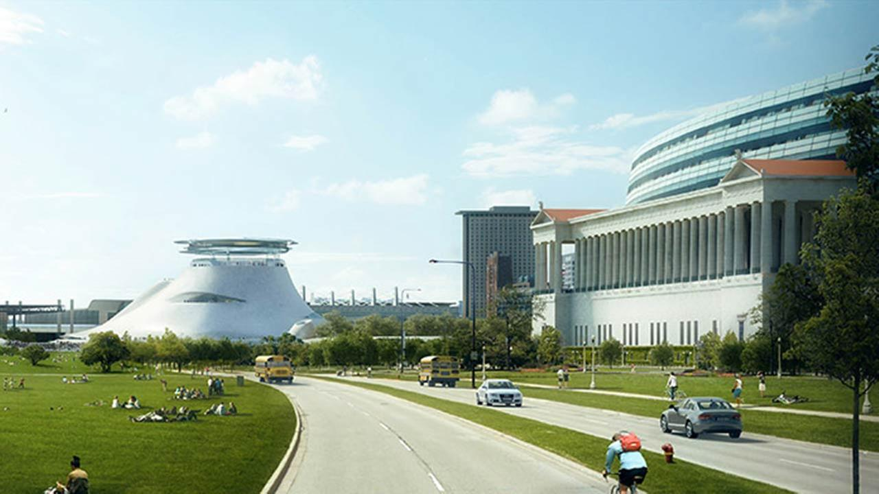 Rendering of the new George Lucas Museum.