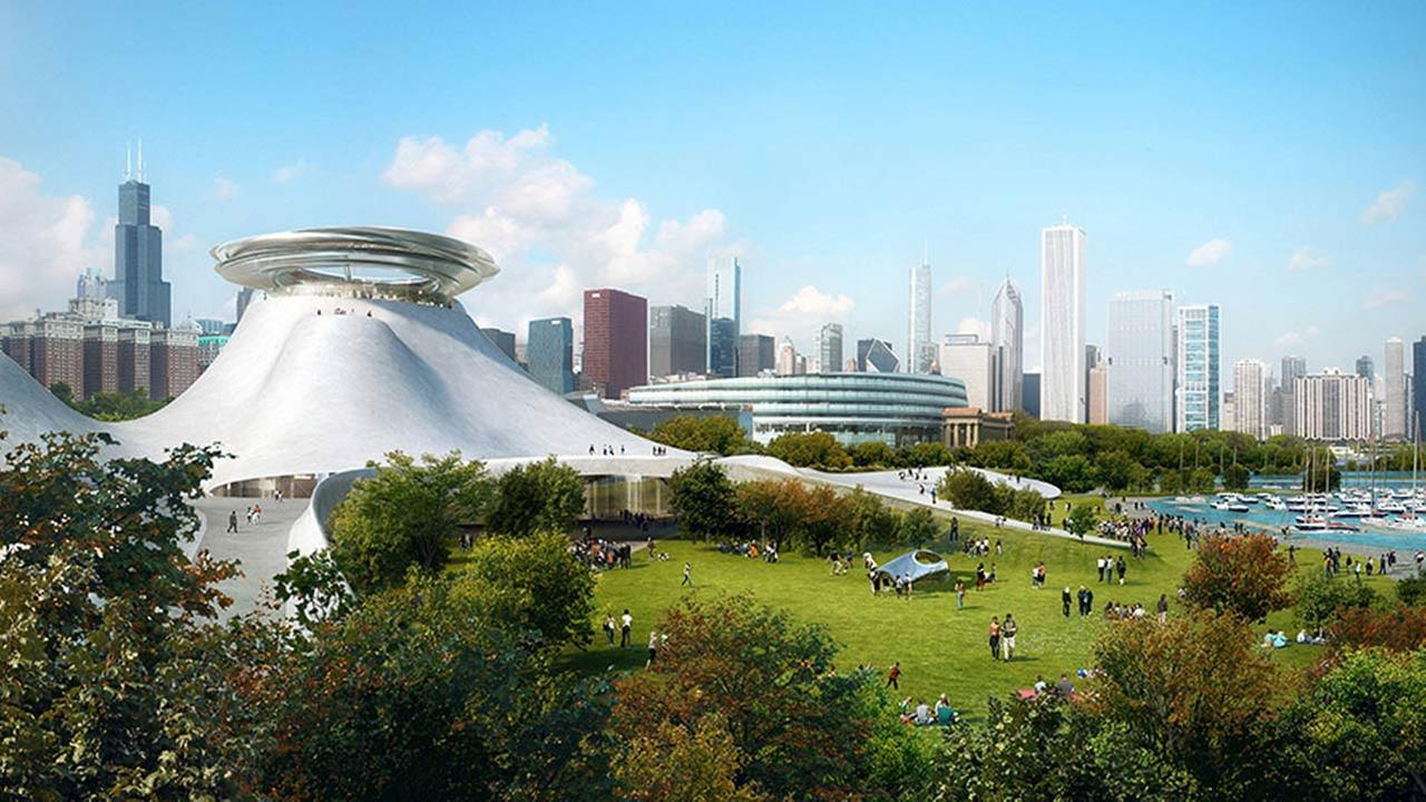The architecture firm designing the new George Lucas Museums first-released renderings of the building in 2014.