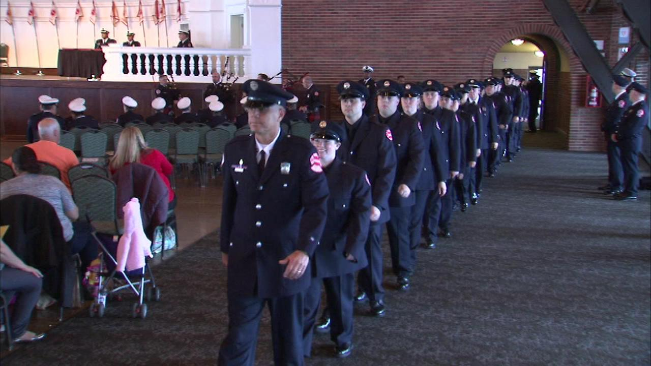 At a paramedic graduation ceremony on Thursday, Chicagos fire commissioner thanked ABC 7 for its partnership with the department in the Operation Save-A-Life program.