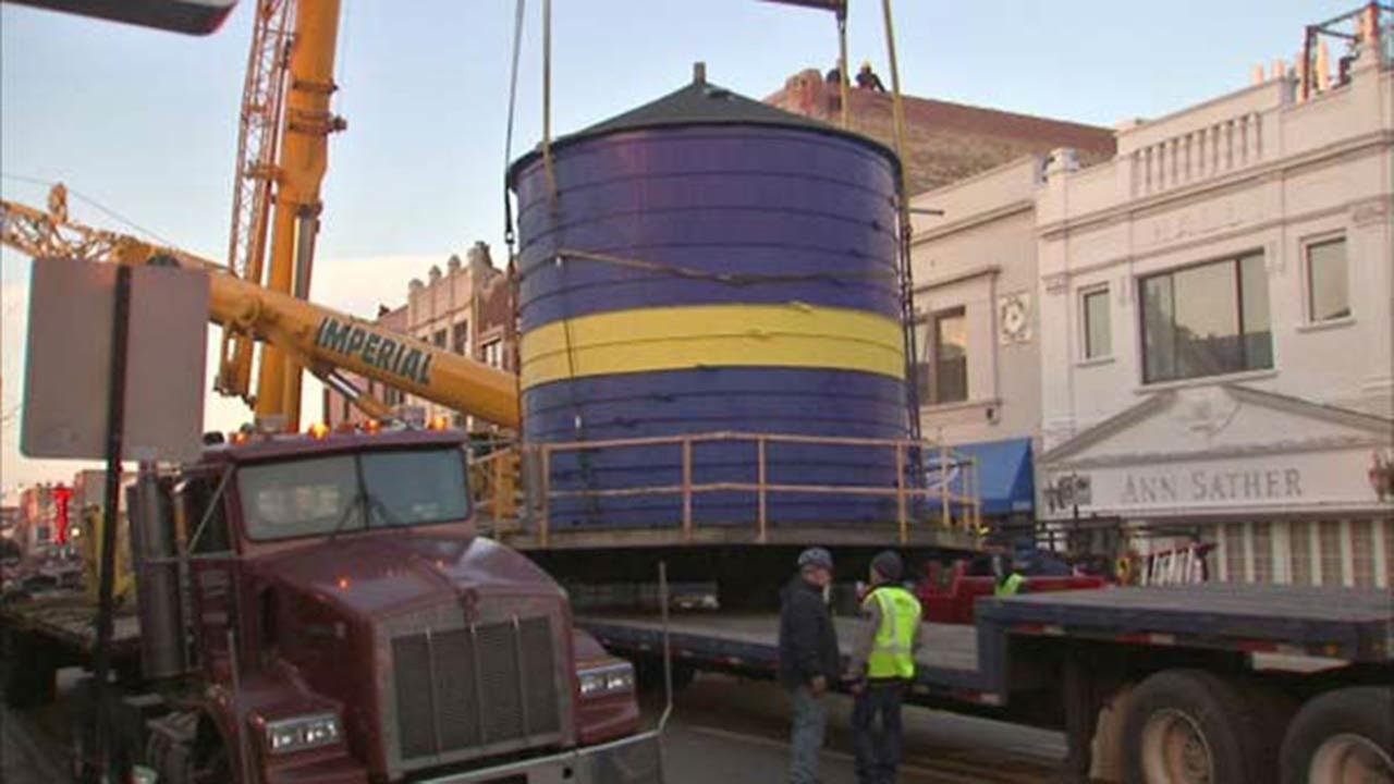 Chicagos so-called Andersonville Water Tower on top of the Swedish American Museum near Clark and Foster had to be removed back in March.