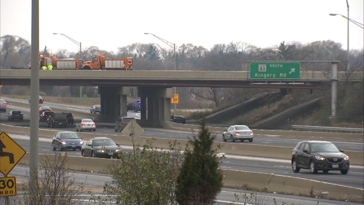 Route 83 near suburban Willowbrook has been re-opened after ice forced closures of both the northbound and southbound lanes.