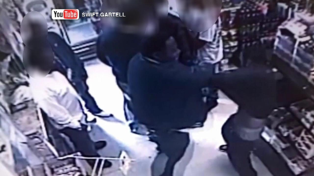 The excessive force allegations against Aldo Brown play out on surveillance video.