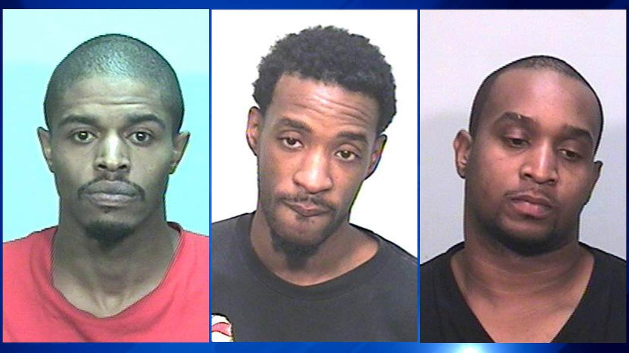 Left to right: Aaron Swopes, 31,Damon D. Duffie, 30, and Dwayne D. Gordon, 28,