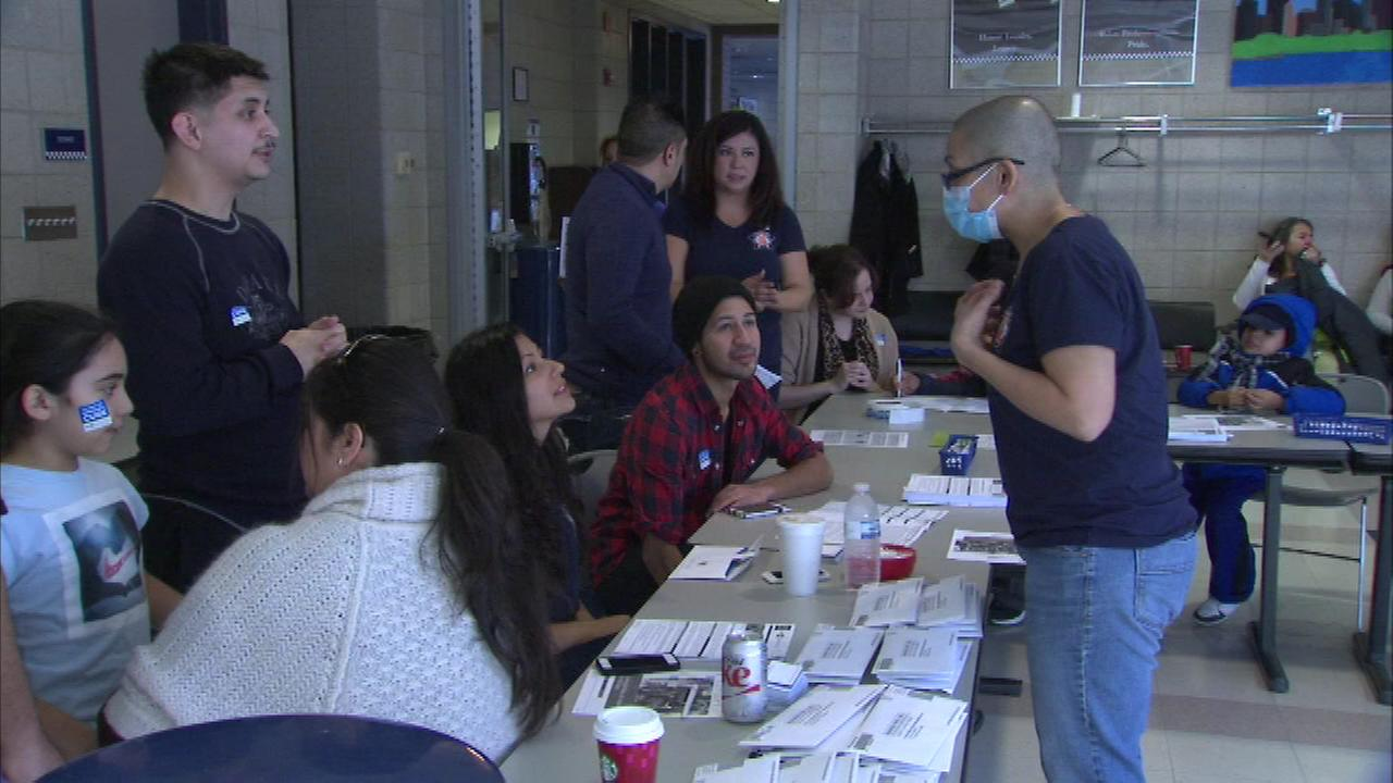 Dozens of people came out to register as donors at a bone marrow drive Saturday for Chicago Police Officer Blanca Magallon.