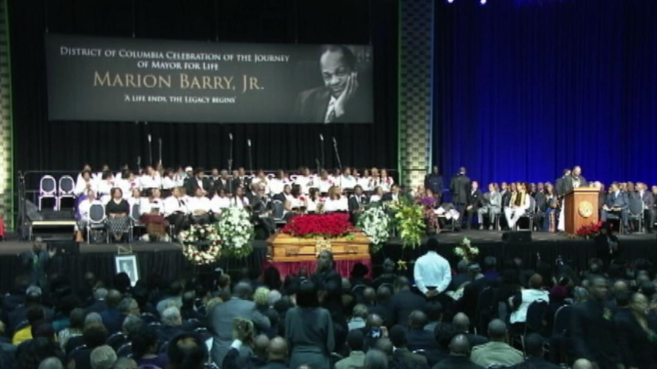 thousands who gathered Saturday at the Washington Convention Center to say goodbye to former DC Mayor Marion Barry.