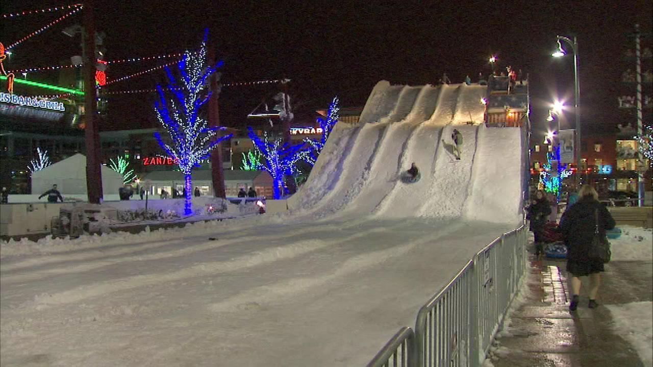Even if there is no snow in the forecast, you can still enjoy the Polar Peak, a four-story tubing hill that just opened in suburban Rosemont.