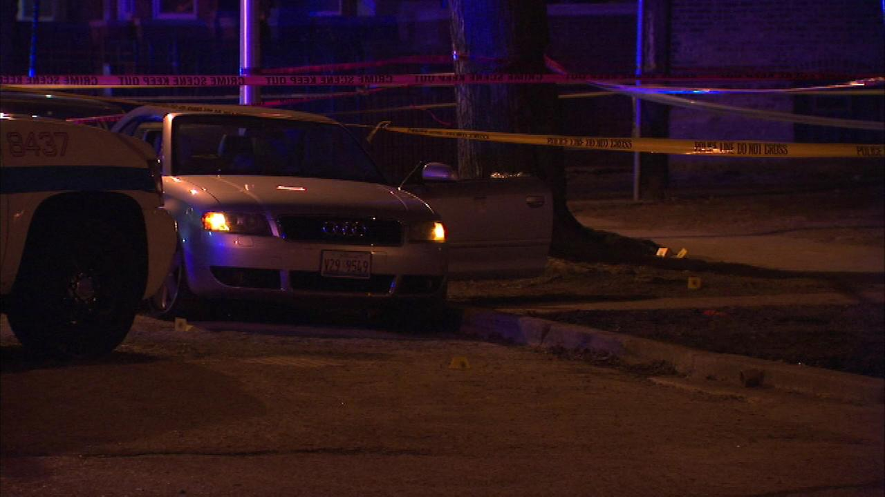 A man was shot and killed while he was in a car with a 3-year-old child on the citys West Side on Friday night.
