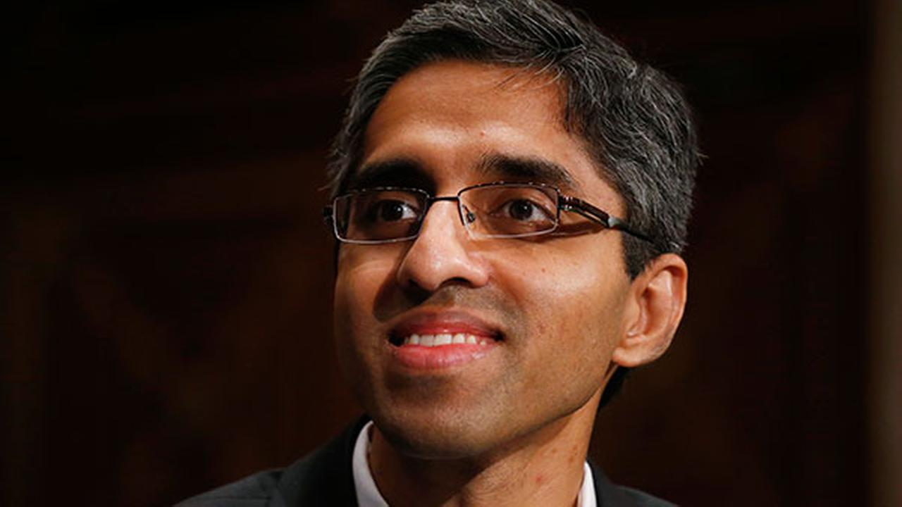 FILE - In this Feb. 4, 2014, photo, Dr. Vivek Hallegere Murthy, President Barack Obamas nominee to be the next U.S. Surgeon General, listens on Capitol Hill in Washington.