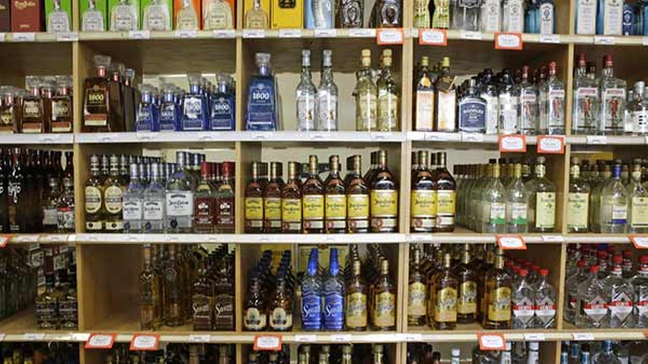 FILE: Bottle of liquor displayed for sale at a Utah State Liquor Store in Salt Lake City on July 29, 2014.