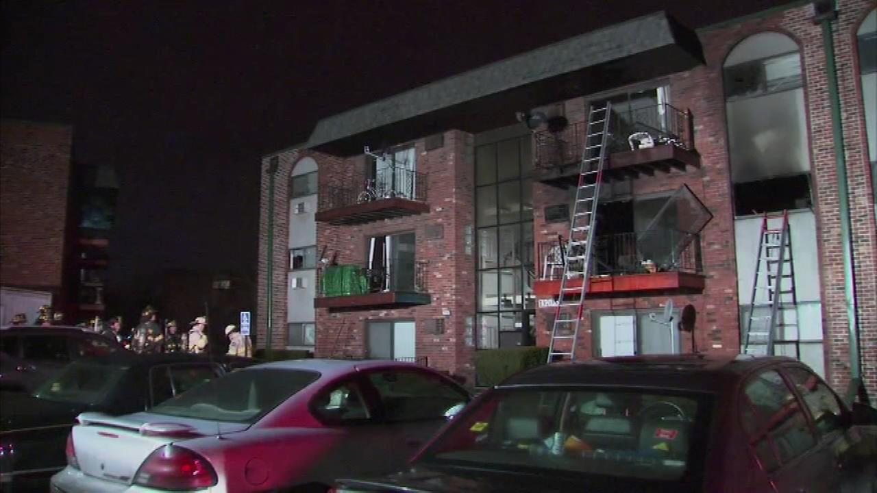 A fire in south suburban Riverdale injured five people, including four firefighters.