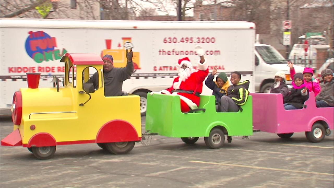 A lot in the citys Bronzeville neighborhood became a winter wonderland Saturday for children and families to enjoy.