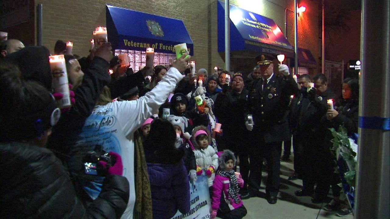 A vigil was held in suburban Bellwood Saturday for a Cook County Sheriffs officer who was remembered as an outright good guy.