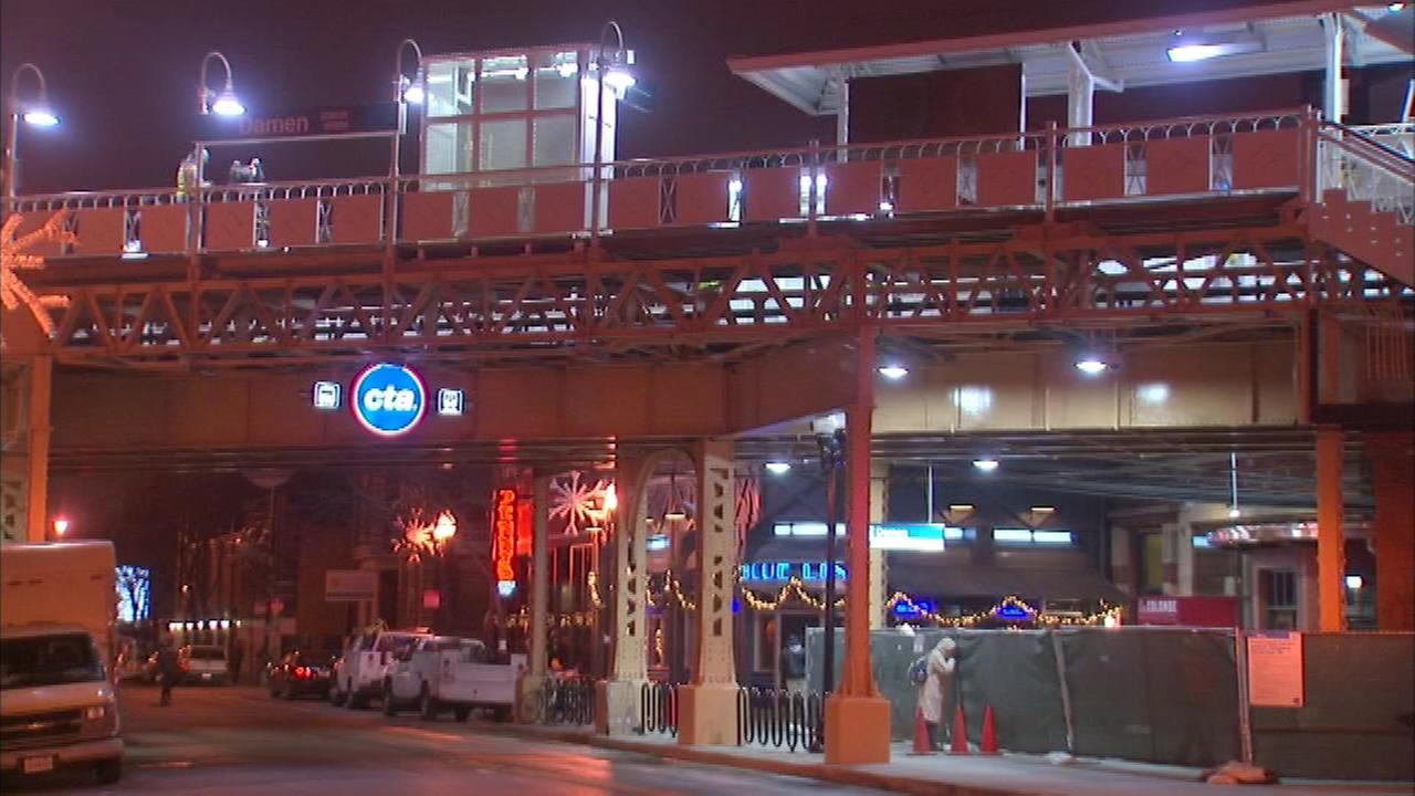 The CTAs Damen Blue Line station is set to re-open Monday morning after crews finished renovations.