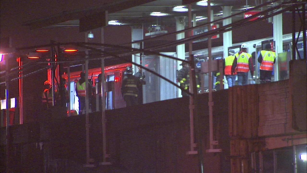 There were major delays on the Red and Purple Line Monday evening after a 56-year-old man was fatally struck by a Red Line train.
