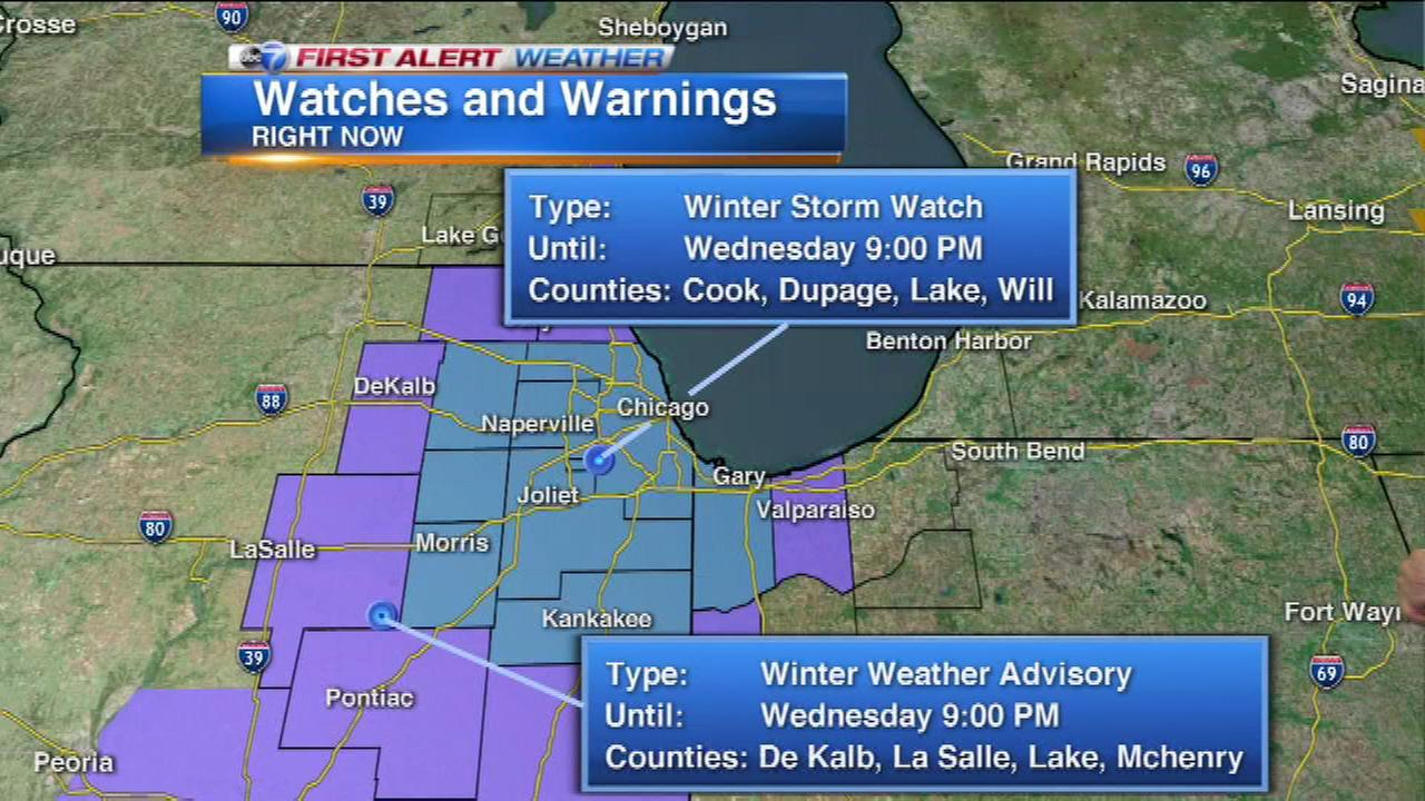 chicago weather winter storm watch issued for christmas