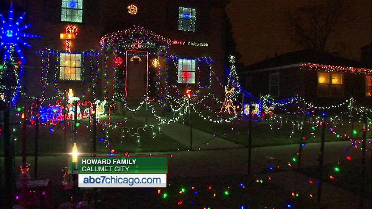 Shirley Howard says her friends and neighbors always tell her how much they enjoy the display at 126 Detroit Street in Calumet City.