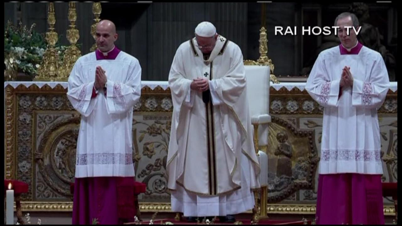 Pope Francis celebrated Christmas Eve with a late-night Mass Wednesday in St. Peters Basilica.