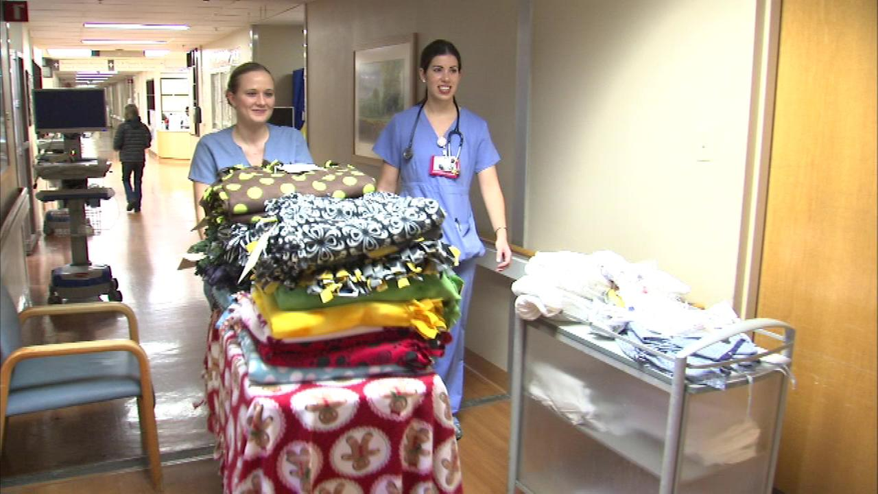 Loyola University Medical Center is giving the gift of comfort and warmth to patients who will not be home this holiday.