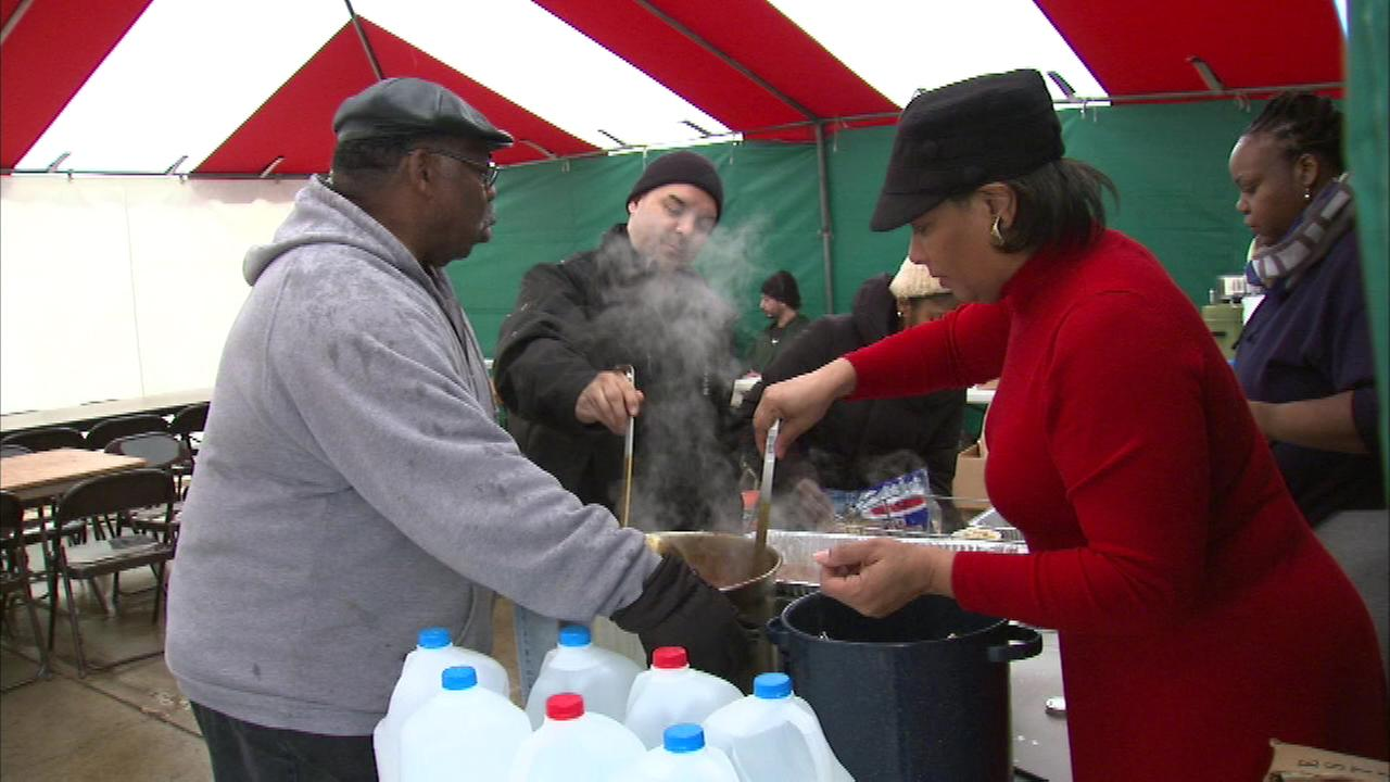 A group of churches is serving free meals to the hungry in northwest Indiana, as people gathered at 5th Avenue and Broadway in Gary for a hot plate of food.