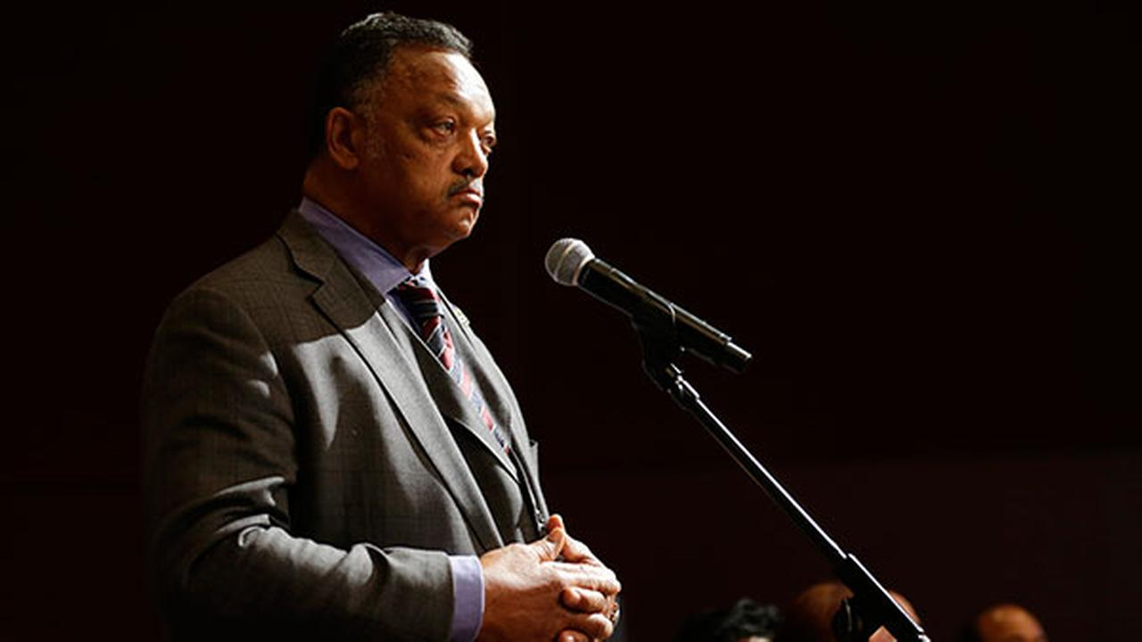 FILE - Rev. Jesse Jackson at the Microsoft Corp. annual shareholders meeting on December 3, 2014.
