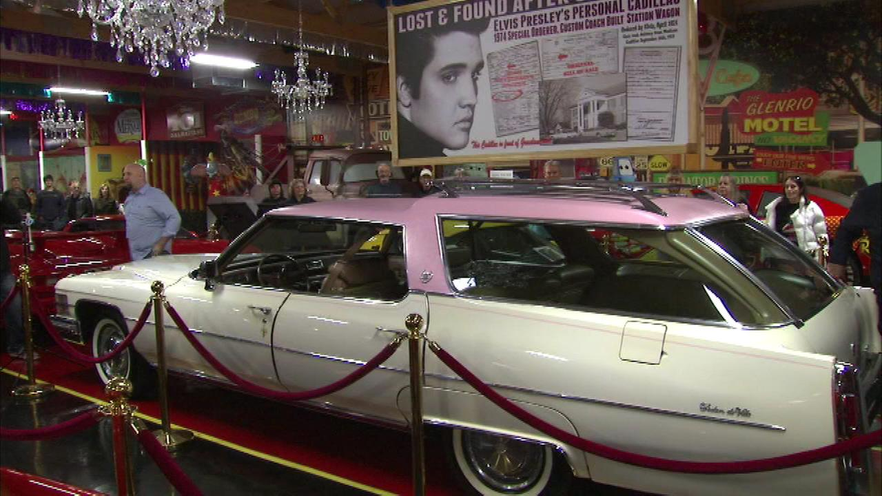 A Cadillac owned by Elvis Presley was unveiled at an automobile museum in Lake County on Friday,