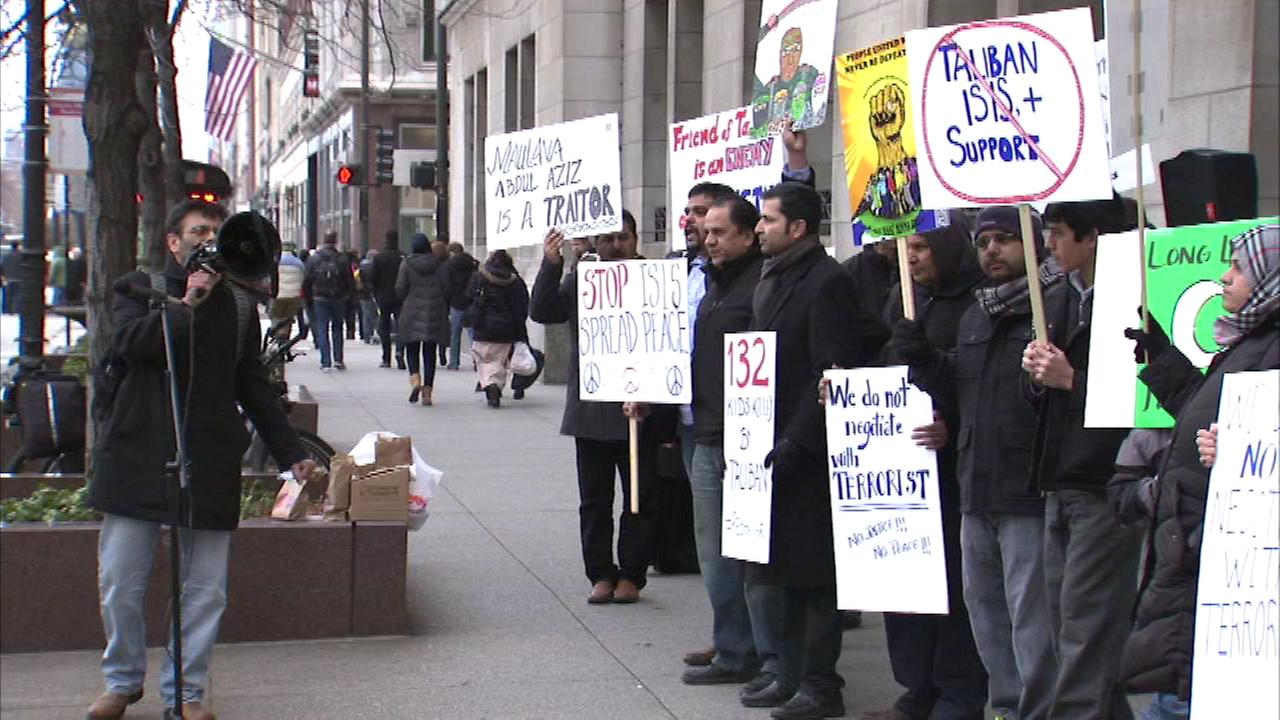 The Chicago Muslim Organization held a rally downtown to condemn that deadly massacre on a Pakistan school last week.