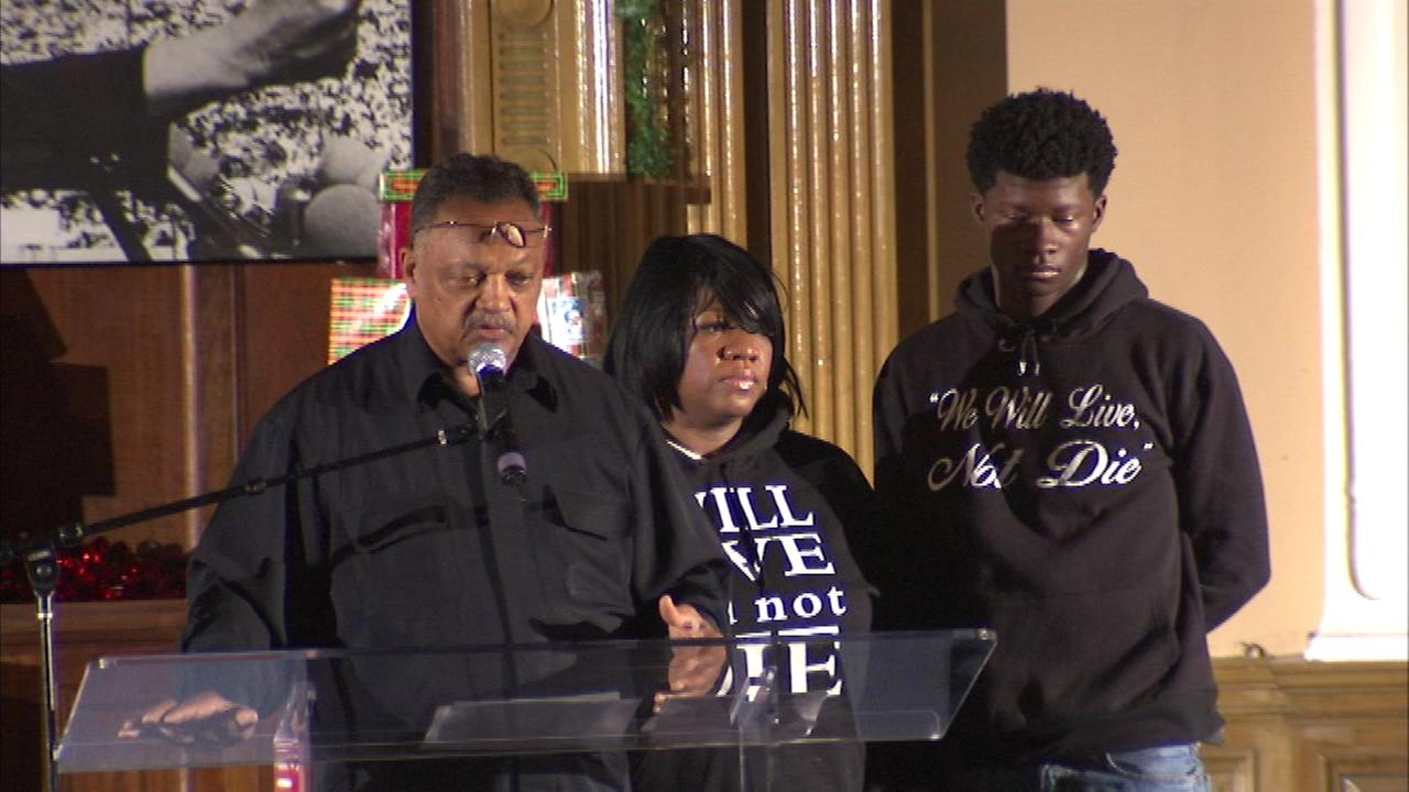 Reverend Jesse Jackson spoke Saturday in Chicago, saying the shootings involving police officers need to stop.