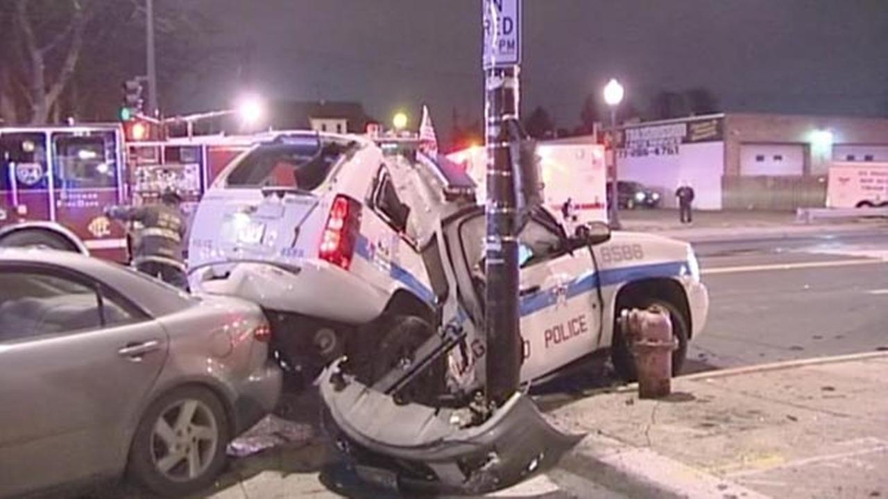 3 Injured In Portage Park Crash Involving Police Car